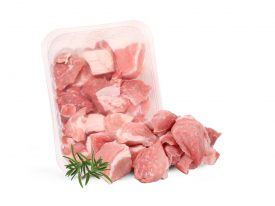 Kiaulienos mėsa troškinti, pjaustyta, 400g